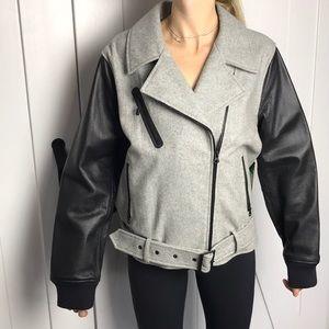 NWT Nike Women's Varsity Belted Jacket. Size: XL.